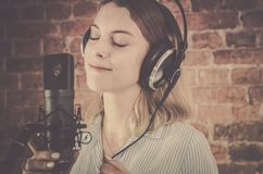 Voice Over Recording Royalty Free Stock Photography