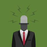 The Voice Of People Illustration. Illustration of people with microphone on his head Stock Images