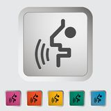 Voice recognition button. Royalty Free Stock Photos