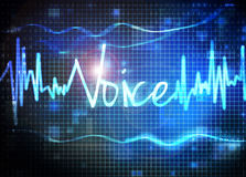 Voice recognition. Sound waves chart stock illustration