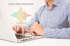 Voice recognition, Machine Learning royalty free stock images