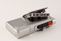 Voice Recorder. Analog voice recorder open with a tape Royalty Free Stock Photos