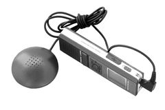 Voice recorder with a microphone Royalty Free Stock Photos
