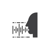 Voice, speech recognition icon vector Stock Images