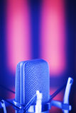 Voiceover στούντιο μικρόφωνο Στοκ Φωτογραφία