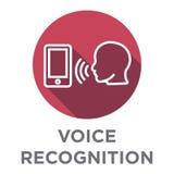 Voiceover- eller stämmakommandosymbol med bilder för solid våg Fotografering för Bildbyråer