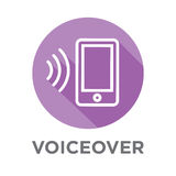 Voiceover or Voice Command Icon with Sound Wave Images Royalty Free Stock Photography