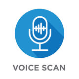 Voiceover or Voice Command Icon with Sound Wave Images Royalty Free Stock Images