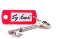 Voici la clé à mon coeur Images libres de droits