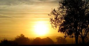 Voici venir le Sun Images stock