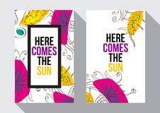 Voici venir le Sun Images libres de droits