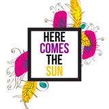 Voici venir le Sun Photographie stock libre de droits