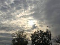 Voici venir le Sun Photographie stock