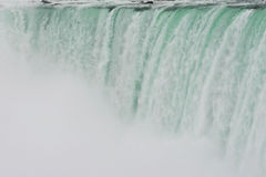 Into the void. Impressive fall of water view to canadian side of niagara Royalty Free Stock Photos