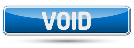 VOID - Abstract beautiful button with text. Royalty Free Stock Image