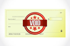 Void bank check illustration design Stock Photography