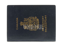 Void canadian passport. In isolated white Stock Photo