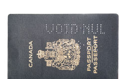 Void canceled Canadian passport Royalty Free Stock Photo