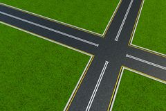 Void crossroad. Top view on a void crossroad Stock Images