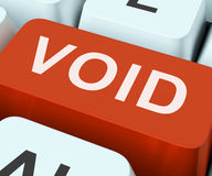 Void Key Shows Invalid Or Invalidated Contract Stock Image