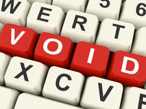 Void Keys Show Invalid Or Invalidated Online Royalty Free Stock Photos