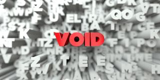 VOID - Red text on typography background - 3D rendered royalty free stock image royalty free illustration