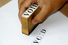 Void Rubber Stamp. A void rubber stamp- documents is superseded Royalty Free Stock Photo