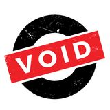 Void rubber stamp Stock Images
