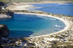 Voidokilia beach. The beach of voidokilia in peloponnese, greece Stock Image