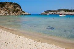 Voidokilia beach, geece Royalty Free Stock Photo
