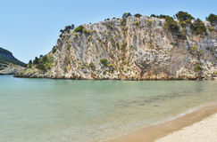 Voidokilia beach Messinia Peloponnese Greece. Landscape of Voidokilia beach Messinia Peloponnese Greece Stock Photos