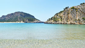 Voidokilia beach Messinia Peloponnese Greece. Panoramic landscape of Voidokilia beach Messinia Peloponnese Greece Royalty Free Stock Image