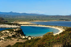 Voidokilia beach, Peloponnese, Greece Stock Images