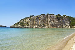 Voidokilia beach Peloponnese Greece Stock Photo