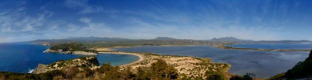 Voidokilia, Gialova, Pylos, Peloponnese fotografia de stock royalty free
