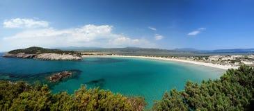 Voidokilia, Gialova, Pylos, Peloponnese fotografia de stock