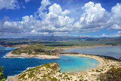 Voidokilia, Messinia landscape, Greece Royalty Free Stock Images