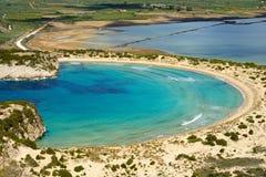 Voidokilia, paesaggio di Messina, Grecia immagine stock