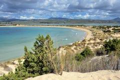 Voidokilia, paysage de Messenia, Grèce image stock