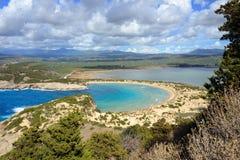 Voidokilia, paysage de Messine, Grèce photographie stock