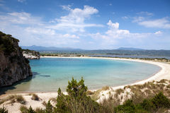Voidokilia strand arkivbilder
