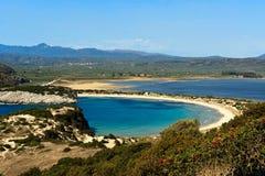 Voidokilia Strand, Peloponnes, Griechenland Stockbilder