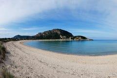 Voidokoilia海滩,希腊 库存图片