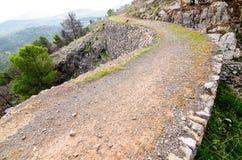 Voie à la montagne Image libre de droits
