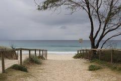 Voie à la plage Photos stock