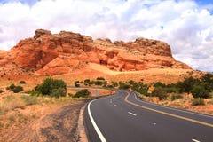 Voie élevée en Arizona Photos libres de droits