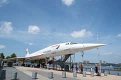 Voie aérienne britannique Concorde Images stock
