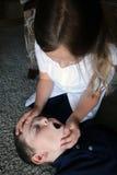 Voie aérienne ouverte de CPR Images stock