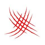 Voie animale de coup de racloir d'éraflure de griffes ensanglantées rouges croisées de Criss Le dinosaure de tigre de chat raye l Photos libres de droits