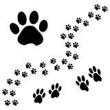 Voie animale noire de patte Illustration de vecteur illustration libre de droits